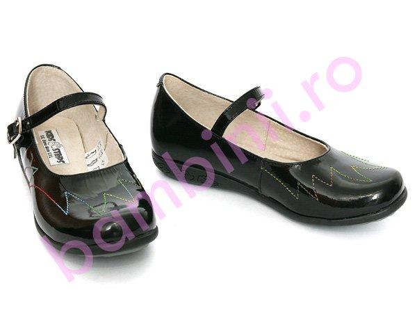 Pantofi copii 635 negru lac