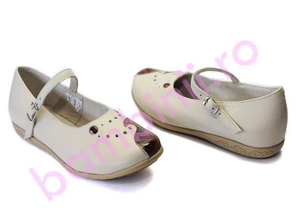 Pantofi copii  piele 637 bej