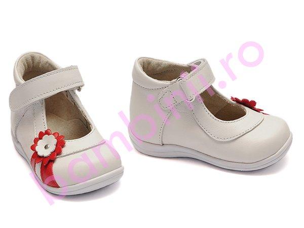 Pantofi fete 746 alb rosu