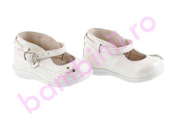 Pantofi piele copii 185 alb