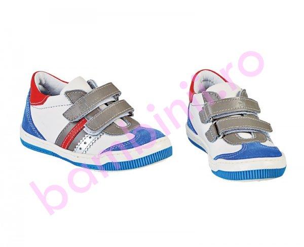 Pantofi copii sport Pj Shoes Costa alb blu rosu 20-26