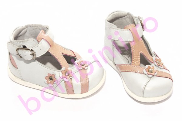 Pantofi copii hokide 307 alb roz