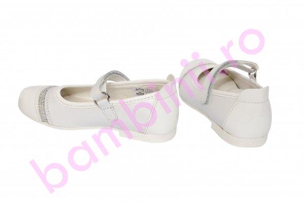 Pantofi copii piele 2090 alb 22-30