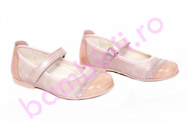 Pantofi copii piele 2090 roz 22-30