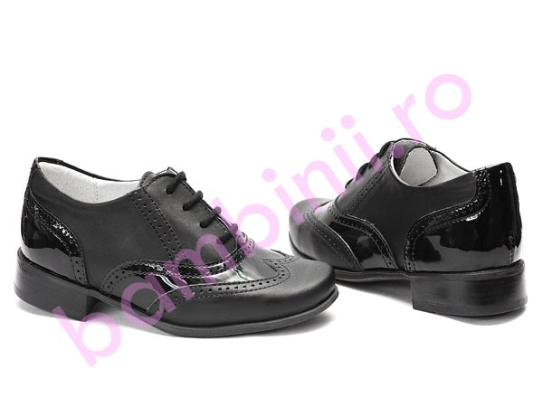 Pantofi copii hokide 326 negru lac