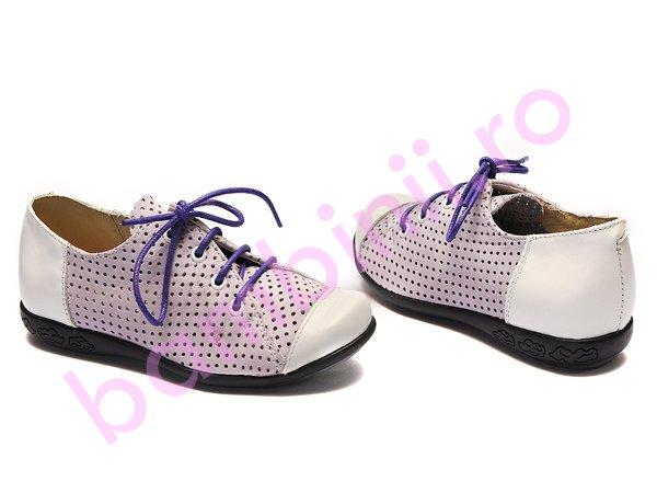Pantofi copii 533 mov alb