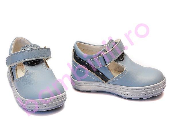 Pantofi copii piele Tobiax blue