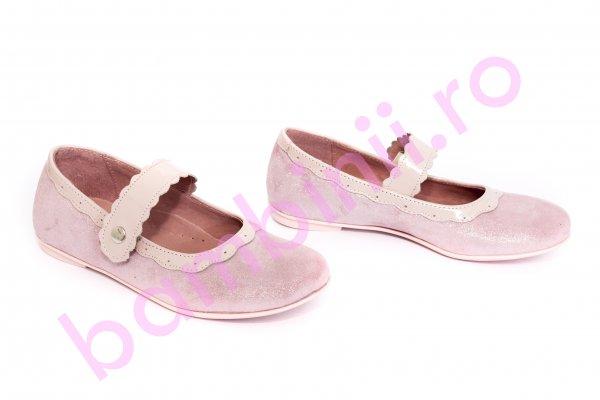 Pantofi copii pj shoes Lola roz pal 24-36
