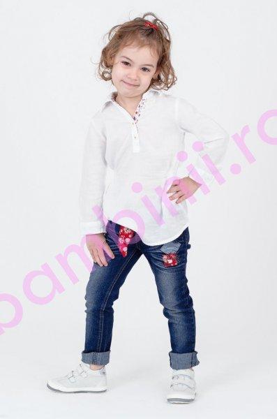 Pantofi copii piele Filip alb
