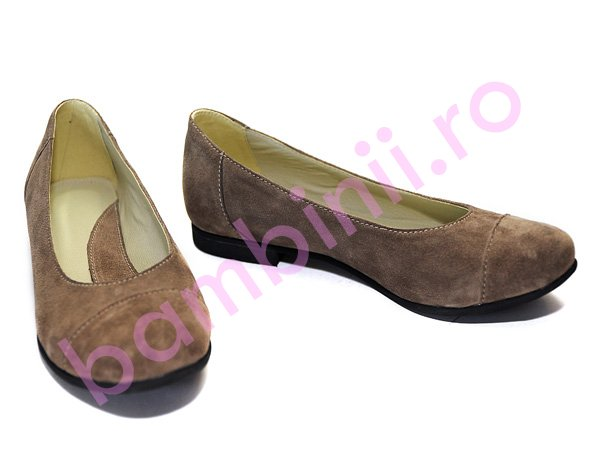 Pantofi piele dama adi 45 bej 34-41