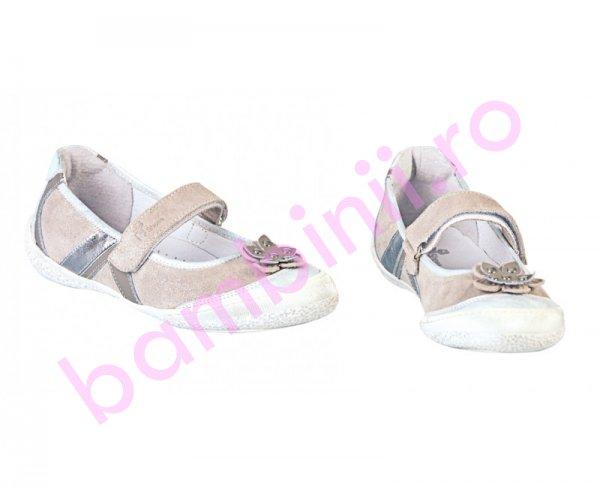 Pantofi balerini fete Pj Shoes Nadia argintiu