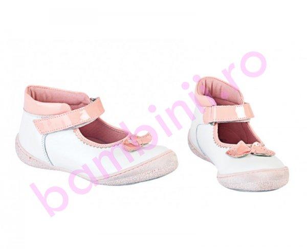 Pantofi fete Pj Shoes Paris alb roz