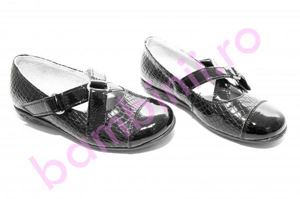 Pantofi fete piele 394 negru