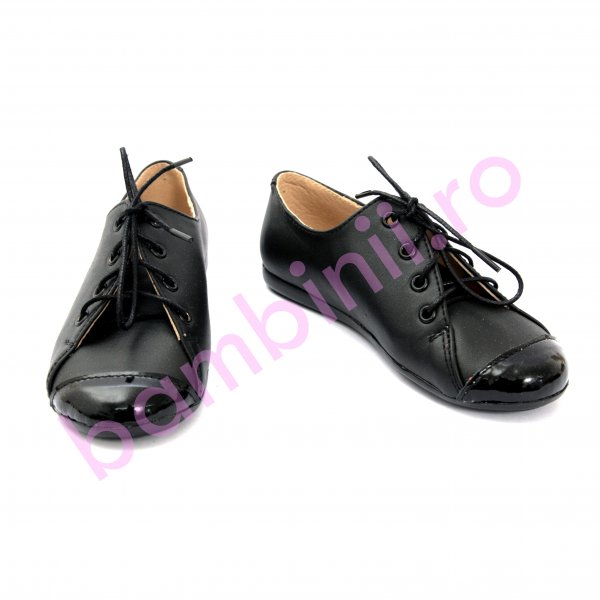 Pantofi fete de scoala 533 negru lac new