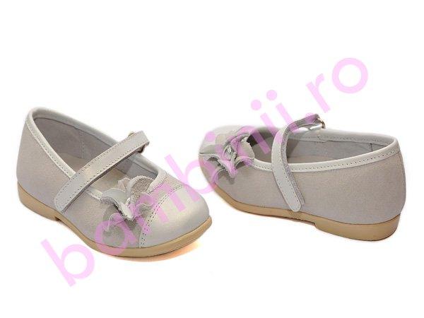 Pantofi hokide copii din piele 304 alb