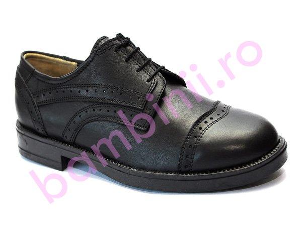 Pantofi barbati din piele 08 negru