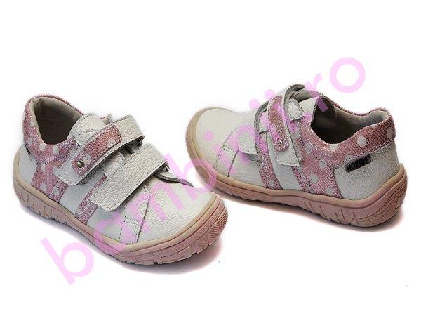 Pantofi hokide sport copii 315 alb-roz