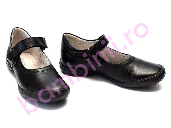 Pantofi hokide copii din piele 317 negru