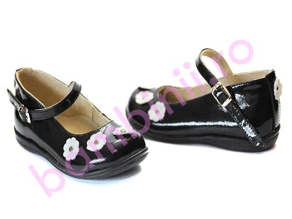Pantofi piele copii 356 negru