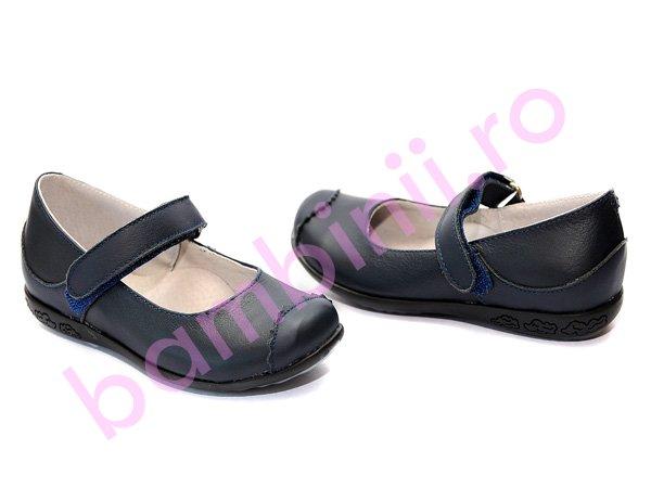 Pantofi piele copii 721 blu