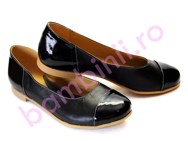 Pantofi piele copii adi 45 negru-lac