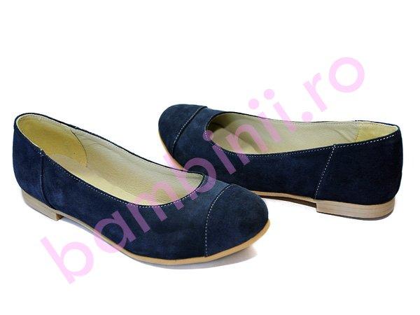 Pantofi piele copii adi albastru