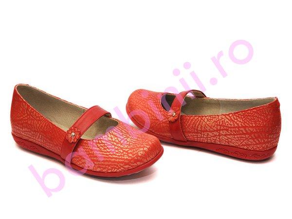 Pantofi piele copii 722 rosu