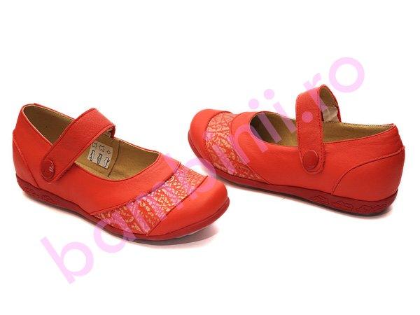 Pantofi piele copii 638 rosu
