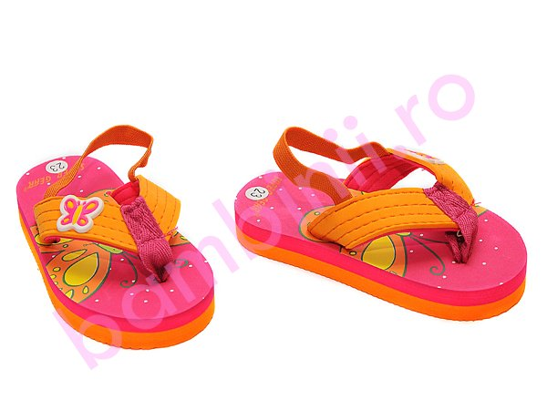 Papuci fete 8825 roz portocaliu