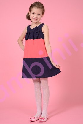 Rochii fete 1274 bleumarin cu roz