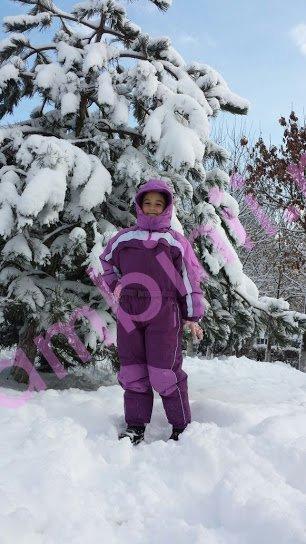Salopeta de ski copii din fas 901 mov 2-12 ani