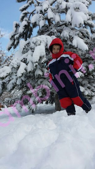 Salopeta de ski copii din fas 901 blu rosu 2-12 ani