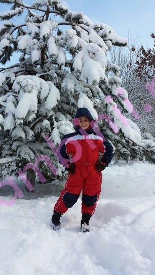 Costum de ski copii din fas 901 rosu 2-12 ani