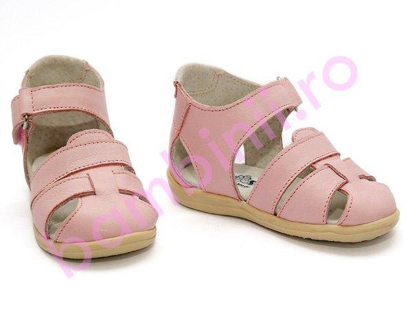 Sandalute piele copii 316 roz