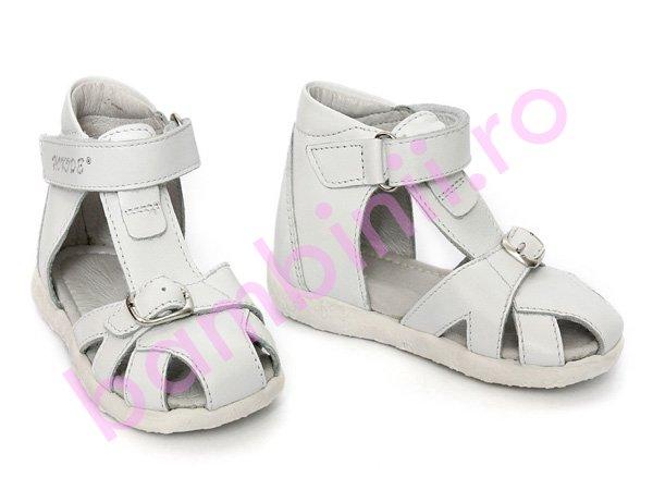 Sandale piele copii hokide 231 alb