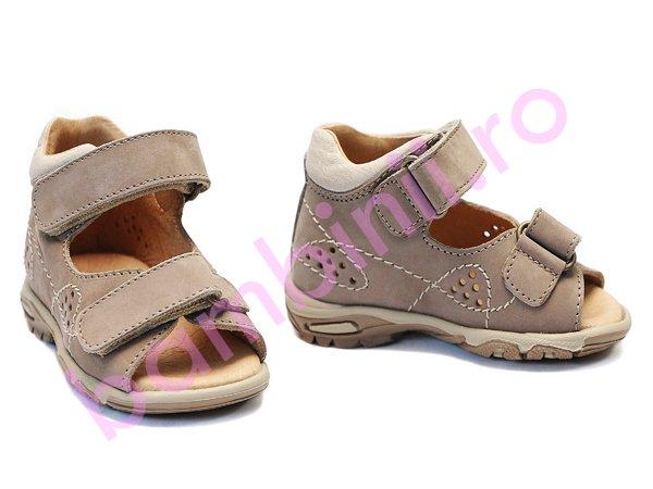 Sandale copii piele 113 bej