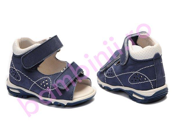 Sandale baieti piele 113 blu