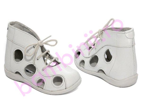 Sandale copii piele 550 alb