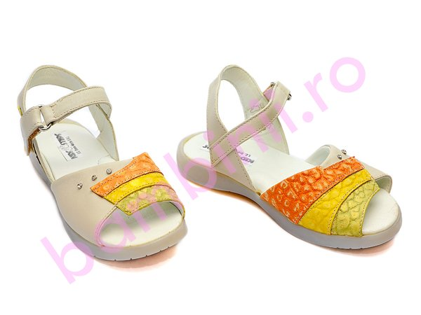 Sandale copii 62 bej+pgv