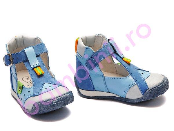 Sandale copii piele hokide 305 albastru