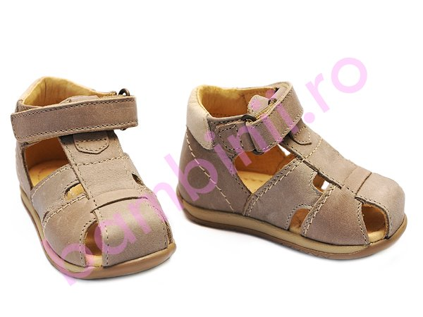Sandale copii piele Marte bej