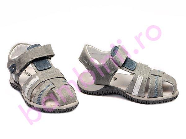 Sandale baieti zebra blu