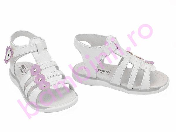 Sandale fete 1304 alb lila new