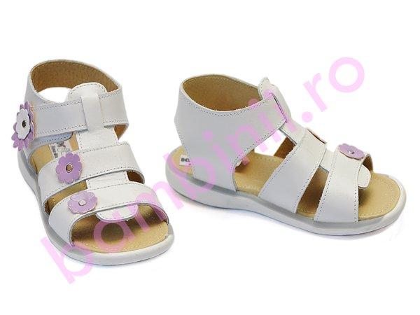 Sandale fete 1304 alb lila
