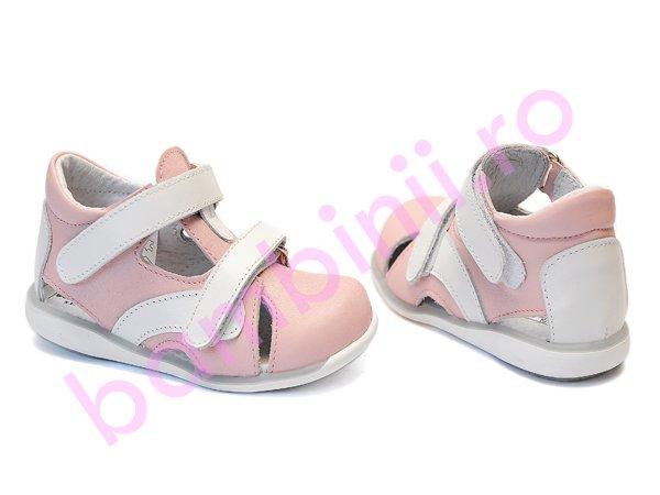 Sandale fete 1305 alb roz