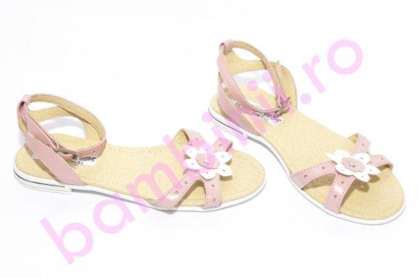 Sandale fete piele 1321 roz 26-36