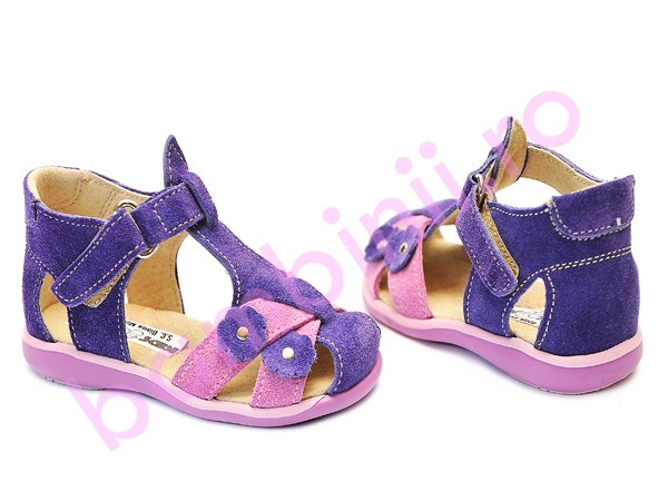 Sandale copii 346 mov roz