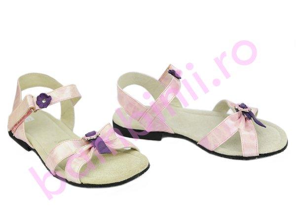Sandale fete 577 roz mov lac
