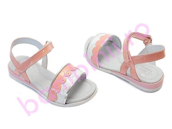 Sandale fete piele Shoes Iris alb roz