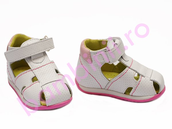 Sandale fete piele Marte alb
